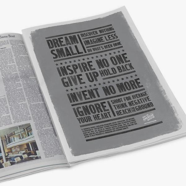 Dream Small - magazine spread