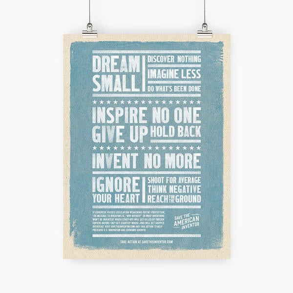 Dream Small - Discover nothing - imagine less - do what's been done