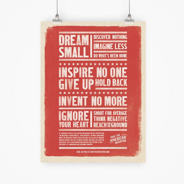 Dream Small - Inspire no one - give up - hold back