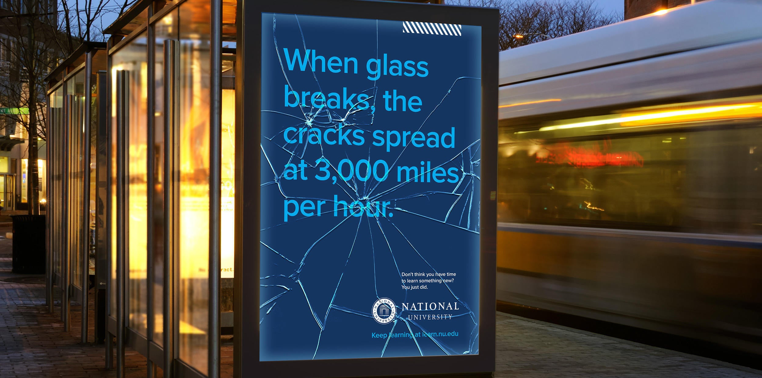 When glass breaks the cracks spread at 200 miles per hour