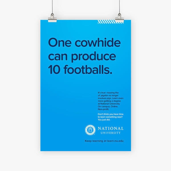 One Cowhide can produce 10 footballs