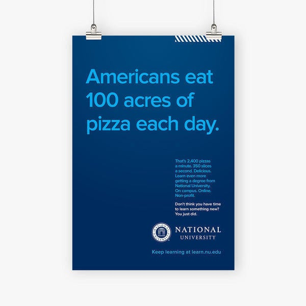 Americans eat 100 acres of pizza each day